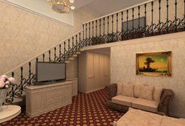 Ограждение лестницы. Отель Гранд Аристократ