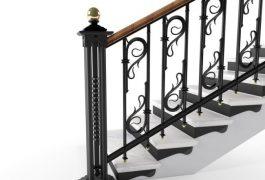 Дизайн-проект ограждения лестницы
