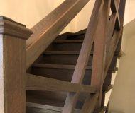 Лестница из массива дуба. Детали