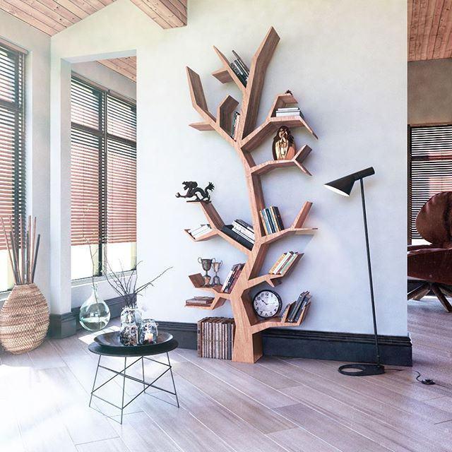 Полки-деревья. 35 великолепных идей как сделать полку в виде дерева