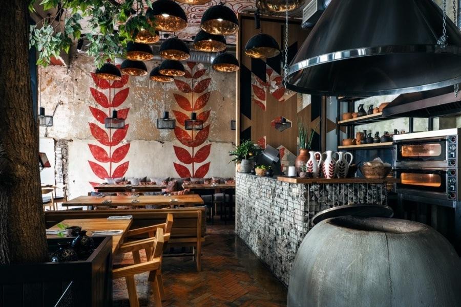 Интерьер грузинского ресторана CHEMIв Санкт-Петербурге от DA. design & architecture