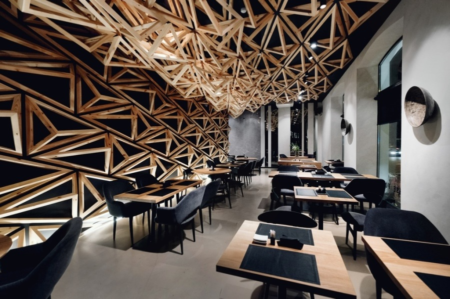 Интерьера суши-бараKIDOв Санкт-Петербурге от DA. design & architecture