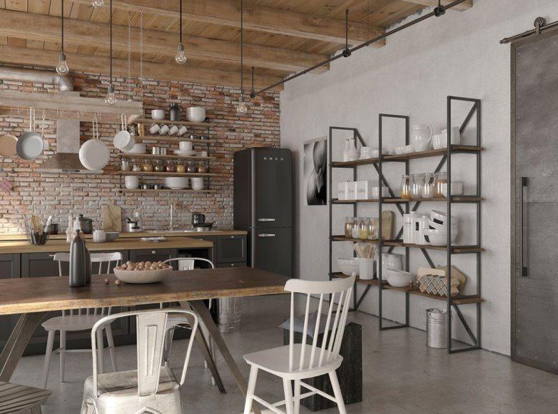 4 интерьера в индустриальном стиле