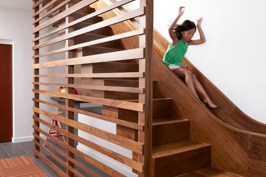 Лестница+горка. 12 крутых идей для реализации
