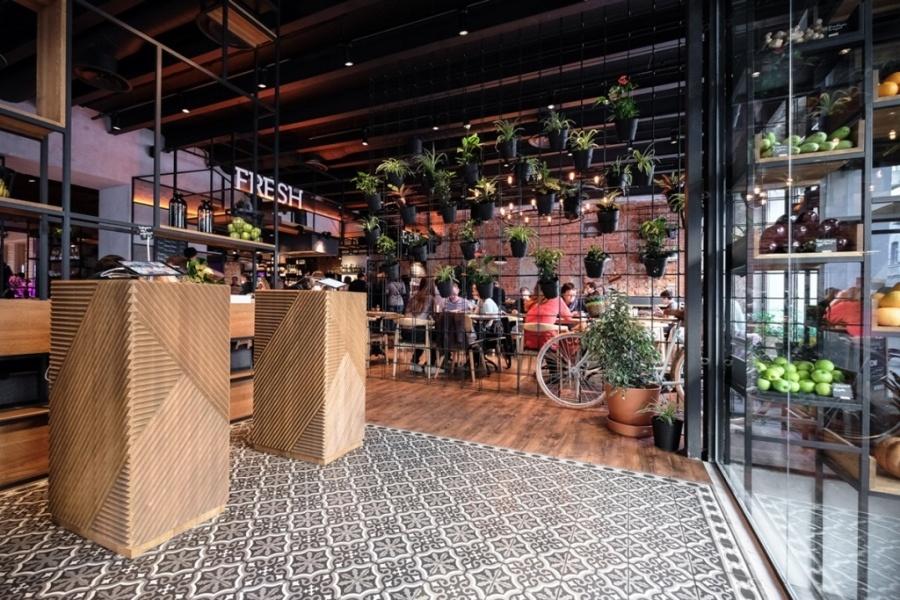 Дизайн интерьера MARKETPLACE restaurantв Москве от DA. design & architecture