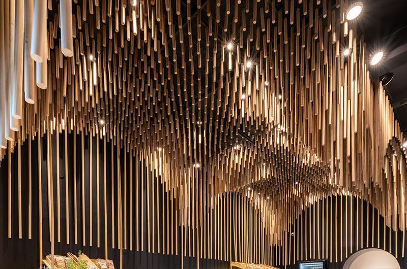 Интерьер магазина макарон PICCAв Аргентине от EFEEME Arquitectos